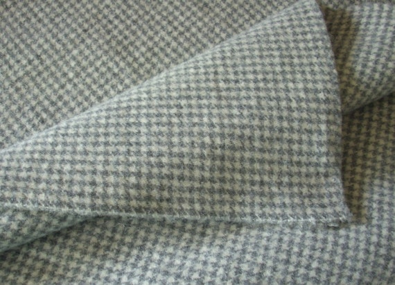 Wool Fabric Gray Houndstooth, One Quarter Yard of Felted Wool Flannel from  RubyMountainDyeWorks on Etsy Studio