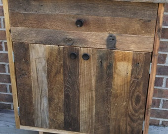 "YOUR  Reclaimed Recycled and Rustic Barn Wood 36"" Tall Cabinet with FREE SHIPPING-RBCT550F"