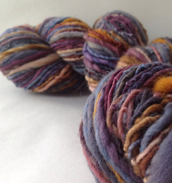 ON SALE - Frosty Night - millspun yarn, worsted weight