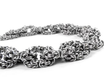 Byzantine Micro Maille Chain of Chains - Chainmaille Bracelet
