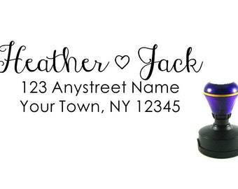 Personalized Self Inking Return Address Stamp - self inking address stamp - Custom Rubber Stamp R178