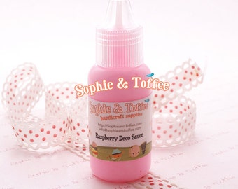 Fake Deco Sauce / Dripping Sauce / Decoden Acrylic Paint 22ml /  Raspberry Deco Sauce