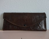 VINTAGE tooled leather MEXICO WALLET