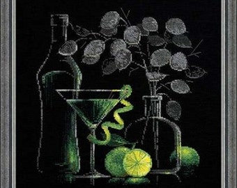 Riolis - Still Life with Martini 1240 Counted Cross Stitch Kit