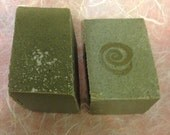 Pink Salt Soap with green sea clay