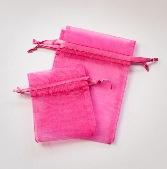 Wedding Favor Bags Organza : Pink Organza Bags, Wedding Favor Organza Bags