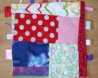 Baby Ribbon Tag Blanket  / Taggie (the perfect baby gift)