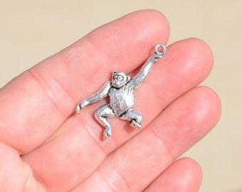 BULK 20  Silver Monkey Charms SC3513