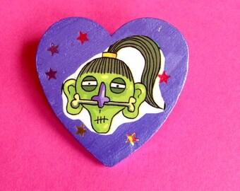 Shrunken Head Voodoo Pin