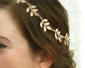 Gold Leaf Hair Piece, Grecian Headband, Olympus ,Greek Goddess Crown,Bridal Headband, Wedding Hair Accessories