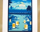 Japanese Lantern Festival print, Como Conservatory