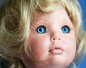 DOLL'S head by artist Cindy Marschner Rolfe...  ceramic doll's head... K434