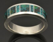 Turquoise & Spiderweb Turquoise Inlay Ring in Sterling Silver by Hileman Silver Jewelry