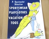 Vintage Poster Store Sign Women's Clothing Mid Century
