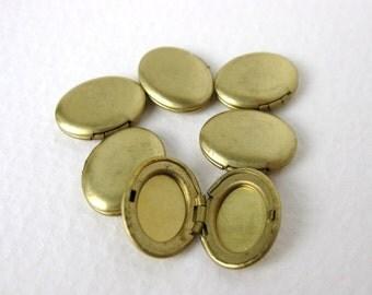 Vintage Brass Locket Oval No Loop 14x11mm vfd0243 (6)