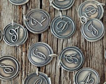 Wax Seal Initial Charm, Monogram Charm, Wax Seal Initial Charm, Initial Charm, Wax Seal Charm, Bridesmaid Gifts