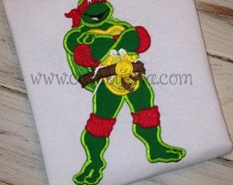 Turtle Teen Applique Embroidery Design