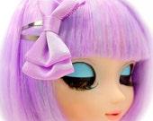 Small Lavender Double Bow Lilac Hair Bow Clip Hair Accessory for Dolls Girls Teens Women Sweet Lolita Fairy Kei