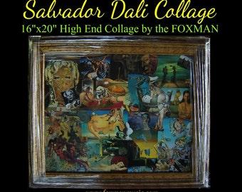 Salvador Dali Collage (original artwork by the Foxman)