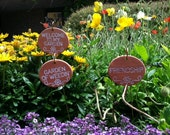 Pick Any Three...Garden Charms Plant Labels / Plant Markers