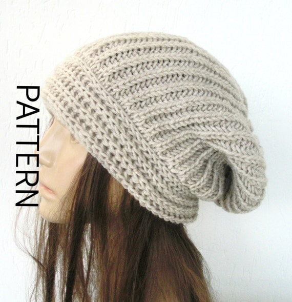 Digital Knitting Patterns : Winter Knitting pattern hat Instant Download Knit hat pattern