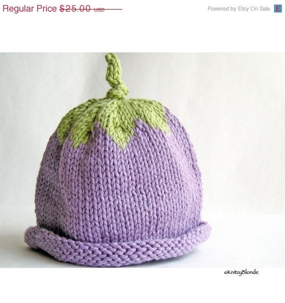 CLEARANCE 30% off - Hand Knit Baby Hat, Photo Prop, Washable, Lilac Purple Mint Green, Newborn