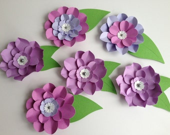 Purple Flower Embellishments - One Time Only Item