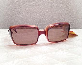 Vintage 1970s Raytex Sunglasses Square Frames Deadstock