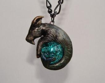 Zodiac Capricorn Sea Goat Necklace Pendant Birthstone December January