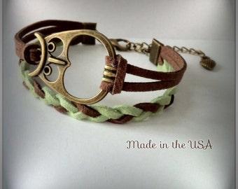 Owl Bracelet, Charm Bracelet, Friendship Bracelet