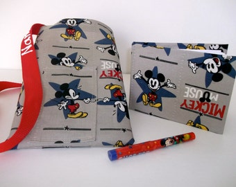Disney Mickey Mouse  autograph book bag with book and pen PERSONALIZED for FREE adjustable strap