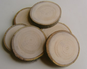 36 Light Wooden Tree Branch Rounds Tree Cookie 1.5-2 inch