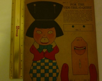 Vintage 1930s Era Cut Out and Stand Up Toy Book