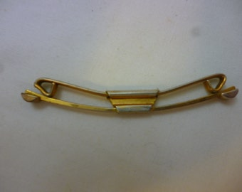 SWANK B&W Plate Collar Stay Clip Pat. No. 75818, 1928