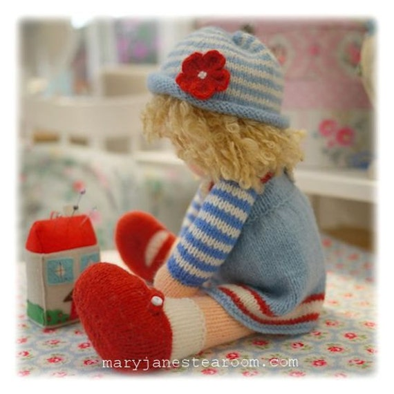 Knitting Patterns For Toy Hats : A Tearoom Doll Hat/ PDF Toy Knitting Pattern / TEAROOM ...