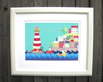 COMING HOME - A3 Lighthouse art print