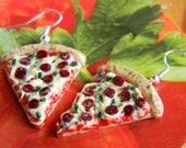 Pizza Pie Earrings - When The Moon Hits Your Eye Like A Big Pizza Pie - That's Amore - Polymer Clay Miniature Food Fun Jewelry