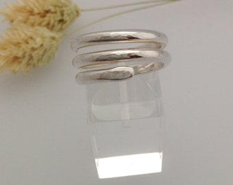 Sterling silver ring with texture