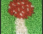 mushroom - latch hook rug pattern - pdf