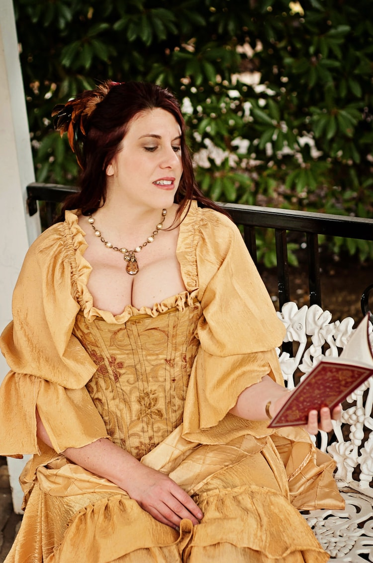 belle inspired steampunk victorian costume by
