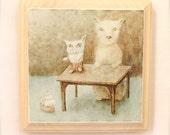 Ursa Minor (print mounted on wood)