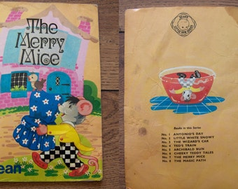 vintage 70s children picture book dean THE MERRY MICE