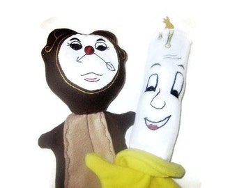 Clock and Candle Puppets from Beauty and the Beast
