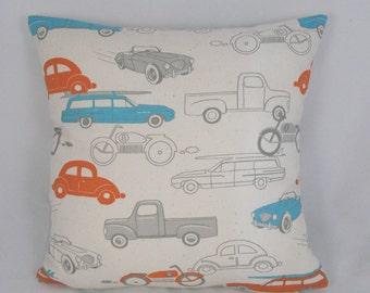 Retro Cute Car Pillow - Decorative Pillow - Accent Pillow - Kid Pillow - Room Decor