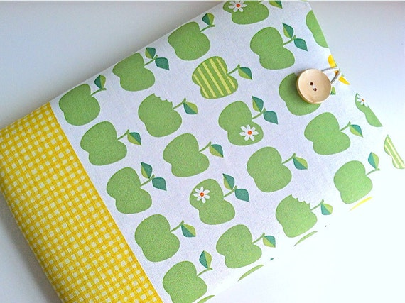 "Mac Book Pro Case 13"" Mac Book Air Case 11.6"" Laptop Sleeve Padded - Green Apples"