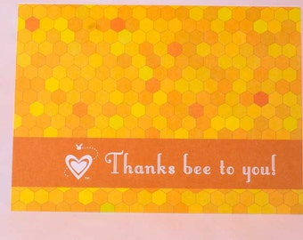 Thanks Bee To You! Thank You Cards for Wedding, Bridal Shower and Baby Shower Guests-Set of 20