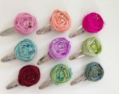 Rosette Snap Clip. Fabric Flower. School Portraits. Fashionably L8