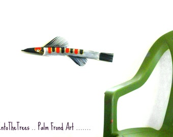 Fish Art Palm Frond Fish Painted Palm Tree Palm Tree Painting