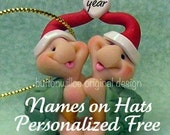 Turtle Lovers Funny Cute Turtle Ornament / Miniature / Personalized 1st Christmas Together