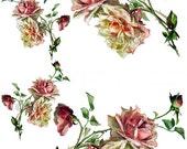 Instant Digital Download Cottage Pink Roses Vintage Edwardian Victorian Era Clip Art Transparent PNG - U Print ECS